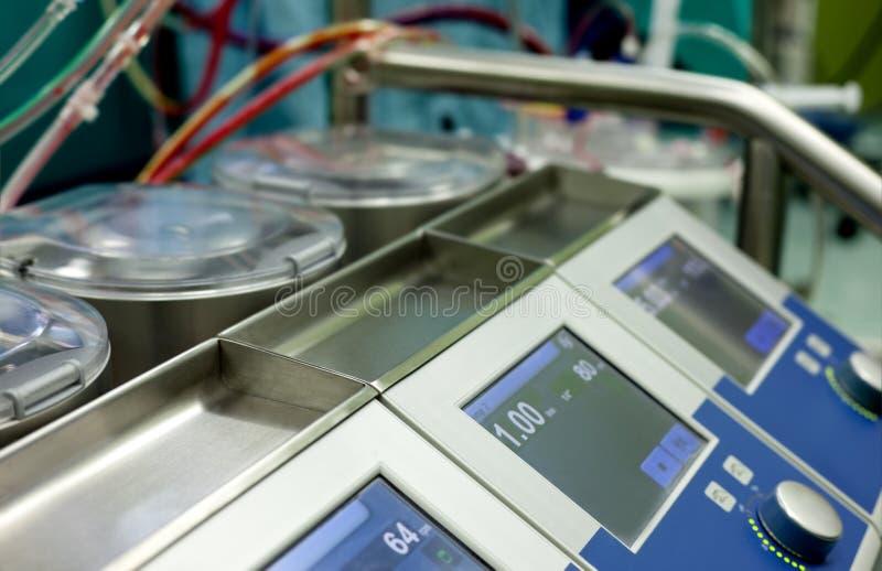 Pompe de machine coeur-poumon photographie stock libre de droits