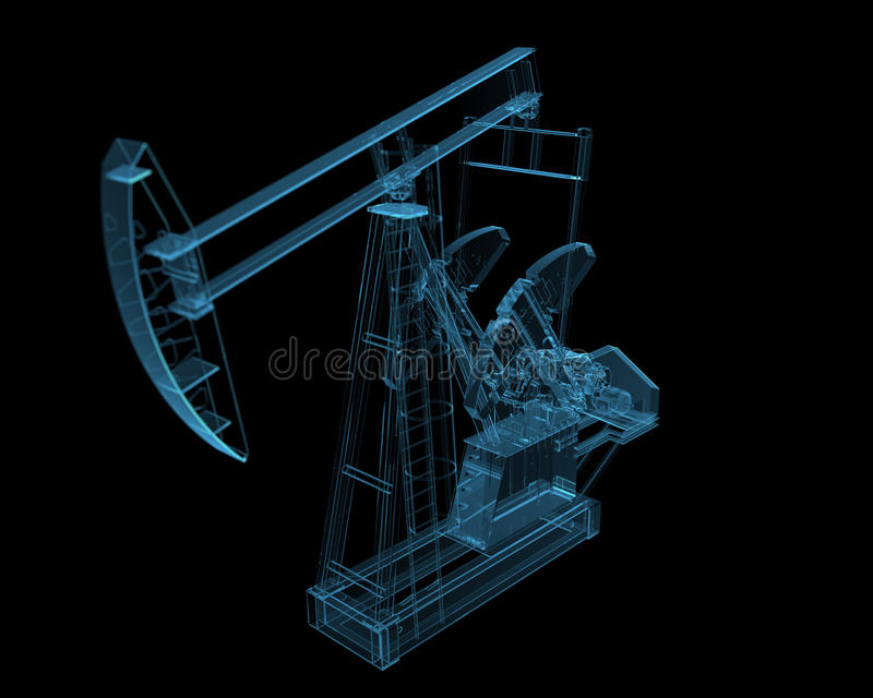 Pompe de pétrole illustration stock