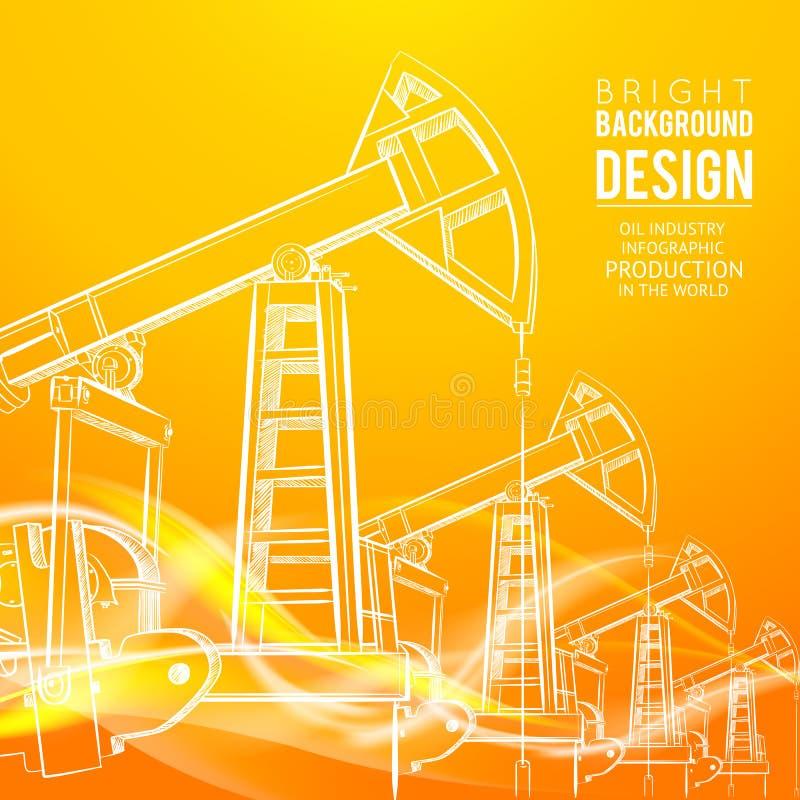 Pompe de pétrole illustration stock