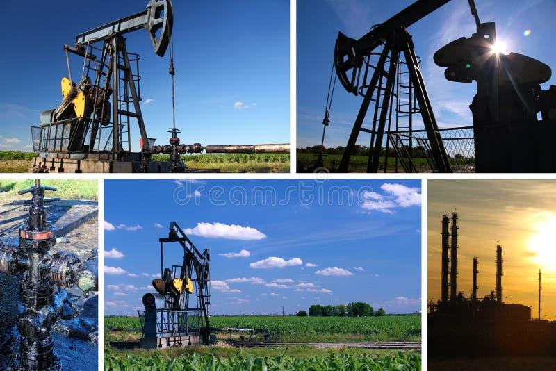 Pompe de pétrole Jack et raffinerie photo libre de droits