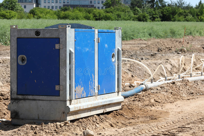 Pompe de route d'excavation photo stock