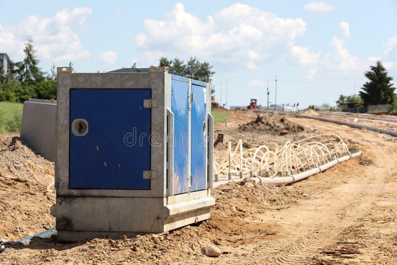 Pompe de route d'excavation photos libres de droits