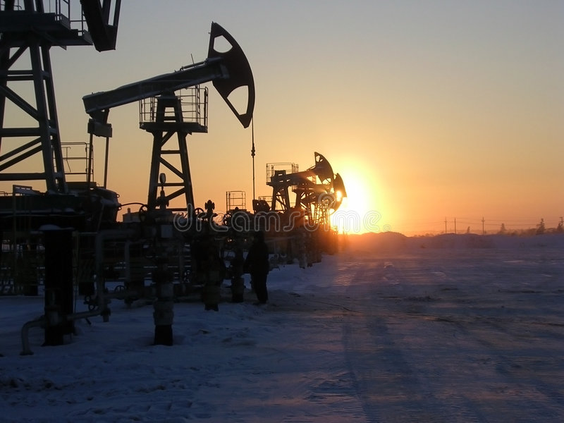 Pompe di olio immagine stock libera da diritti
