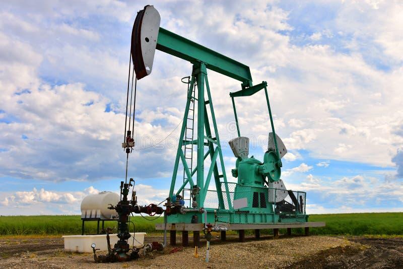 Pompe Jack de puits de pétrole photo libre de droits