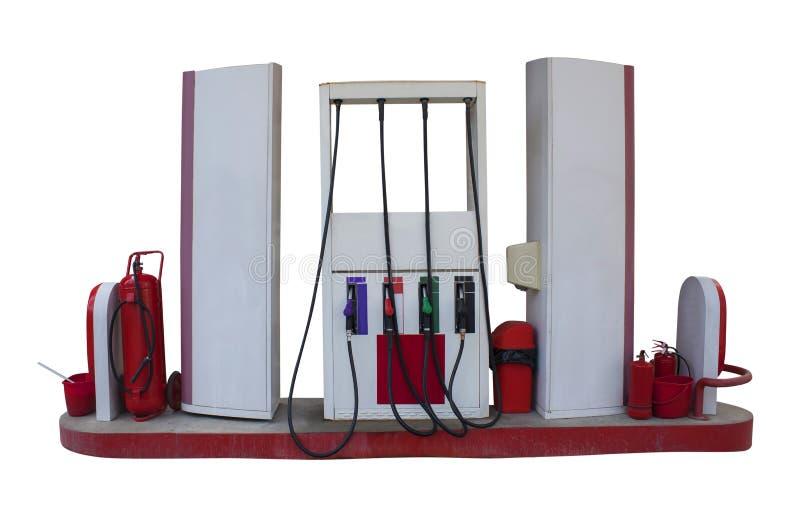 Pompe ou station service à essence pour l'essence et le diesel d'isolement images libres de droits