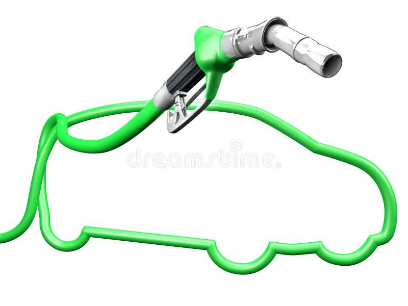 Pompe verte de voiture illustration stock