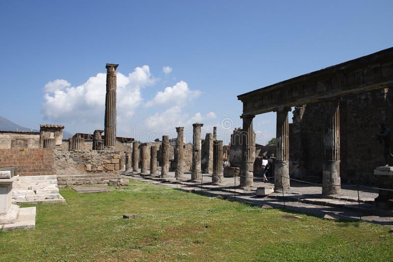 Pompei. Southern Italy-A landscape of Pompei ruins stock photos