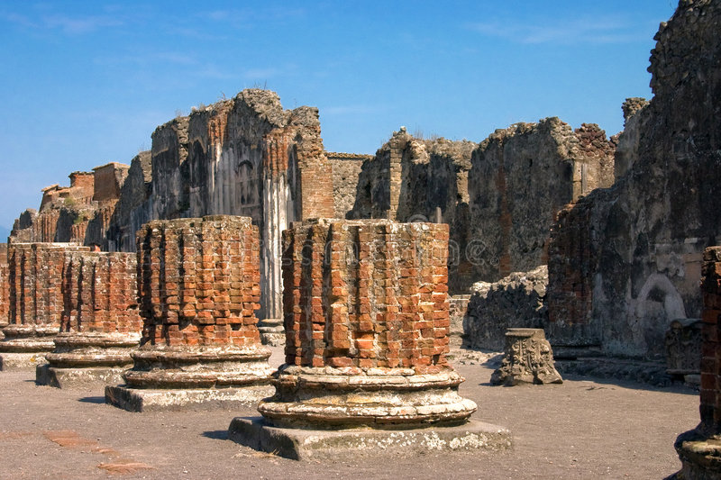 Pompei. I is a ruined Roman city near modern Naples in the Italian region of Campania, in the territory of the comune of royalty free stock photos