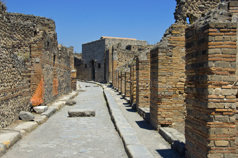 Pompei. A view of old Pompei royalty free stock photography
