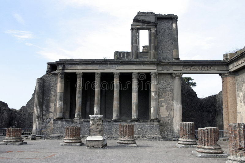 Pompei. I is a ruined Roman city near modern Naples in the Italian region of Campania, in the territory of the comune of stock image