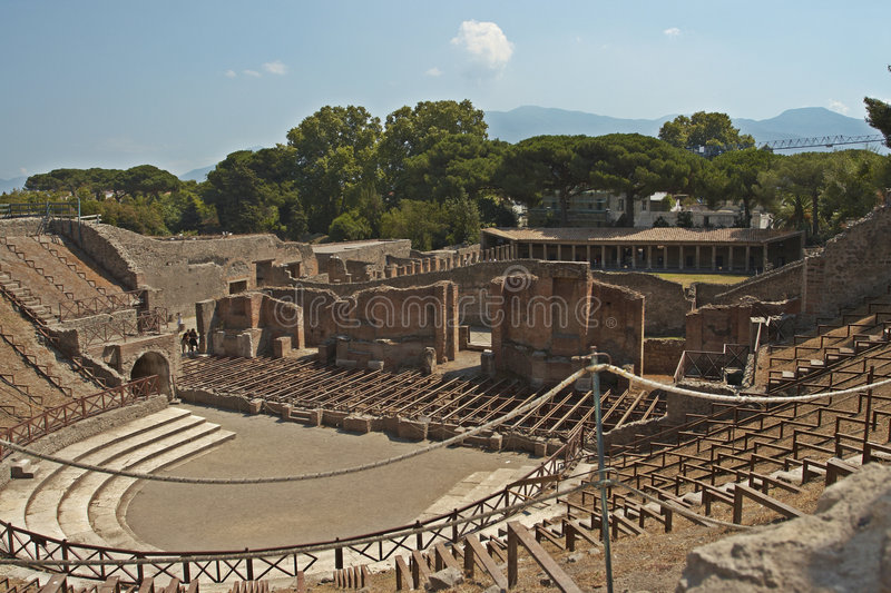 Pompei. One day in Pompei. Italy royalty free stock images