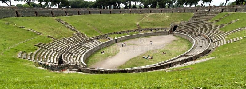 Pompei Amphitheatre, Italië royalty-vrije stock fotografie