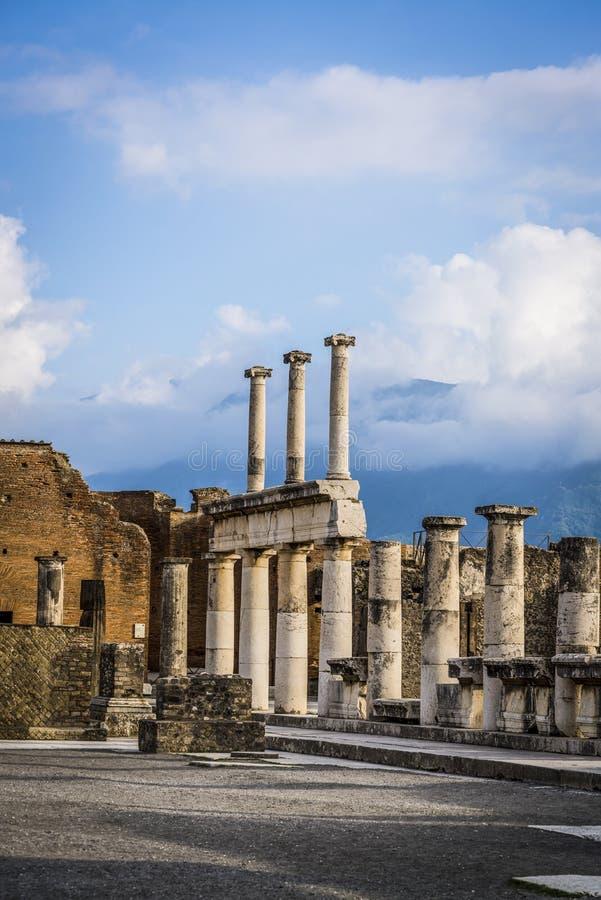 Pompei, archeologische plaats dichtbij Napels, Italië royalty-vrije stock fotografie