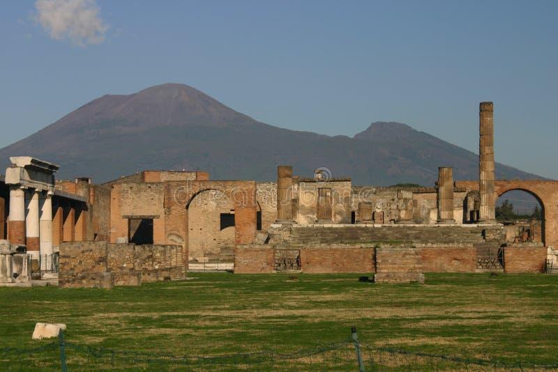 Pompei. City of Pompei and Vesuvio royalty free stock images