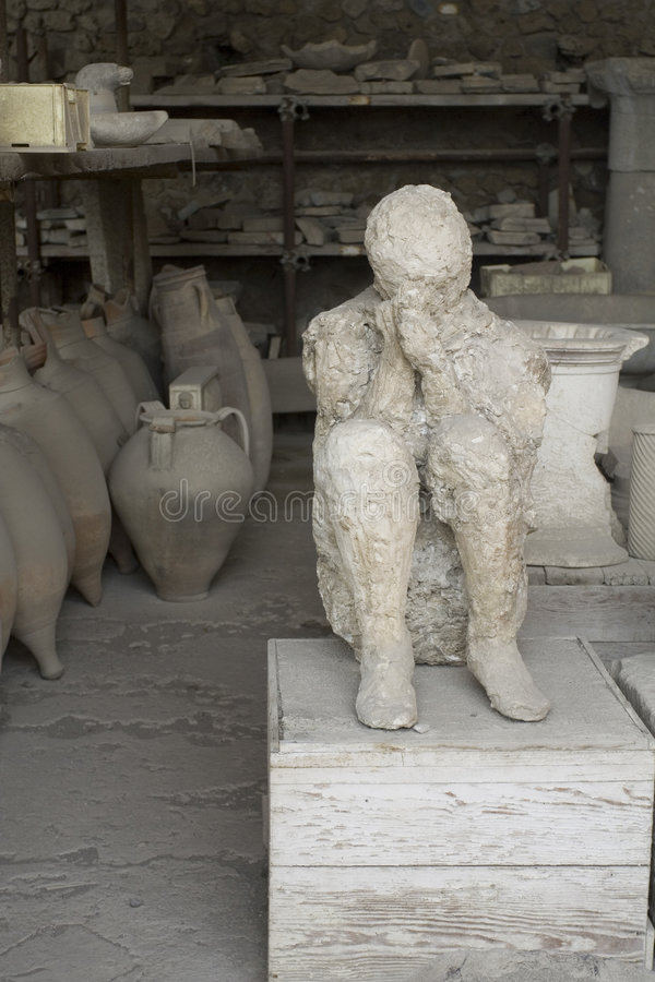 Pompei, detail. Detail from old Roman city off Pompei stock photography