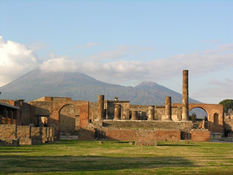 Pompei en de Vesuvius, Italië royalty-vrije stock foto's