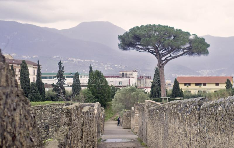 Pompei, Italy. Pompei in Italy, near Naples stock image