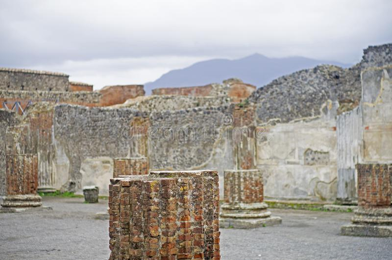 Pompei, Italy. Remains of ancient town - Pompei royalty free stock images