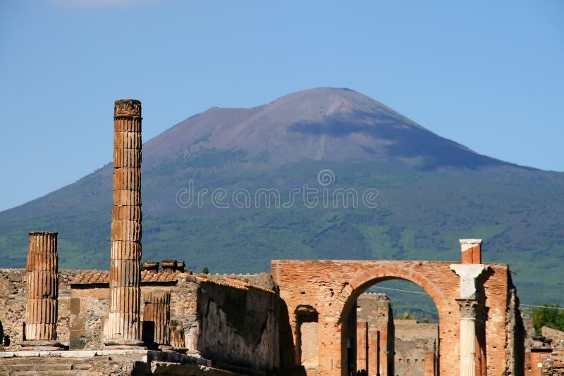 Pompei, italy. Ruins of the ancient roman city of pompei stock image