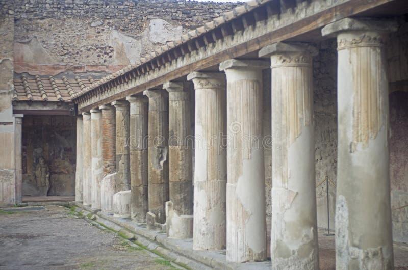 Pompei kolumny obraz royalty free
