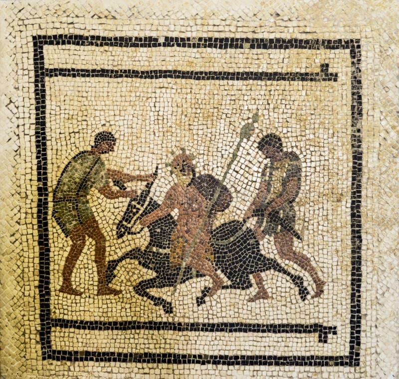 Pompei Roman Mosaic fotografie stock