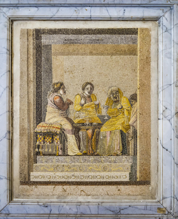 Pompei Roman Mosaic fotografia stock libera da diritti