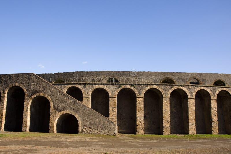 Pompei. Roman theatre in the ancient town stock photo