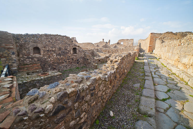 Pompei ruins. Pompei ruins in Italy stock photo