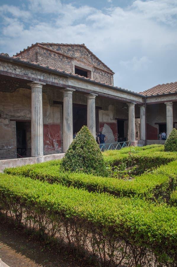 Pompei ruins. Building in the Pompei Ruins stock image