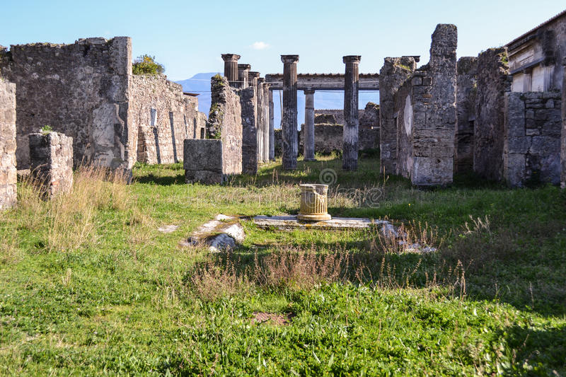 Pompei ruins. View of ruins in Pompei, Italy stock images