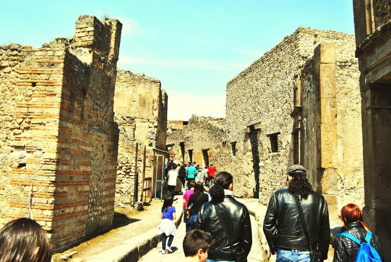 Pompei ruiny obraz stock