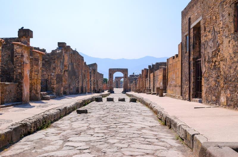 Pompei street. Photo of a Pompei street royalty free stock photos