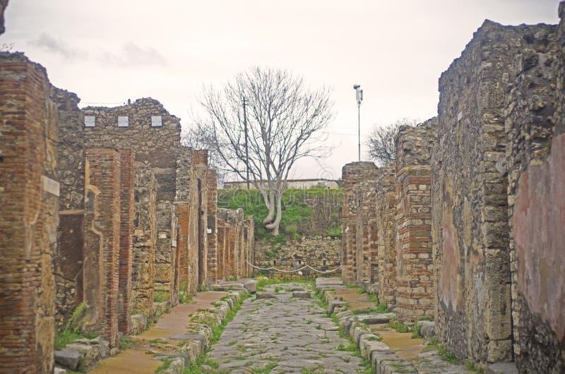 Pompei ulica, Włochy obrazy royalty free