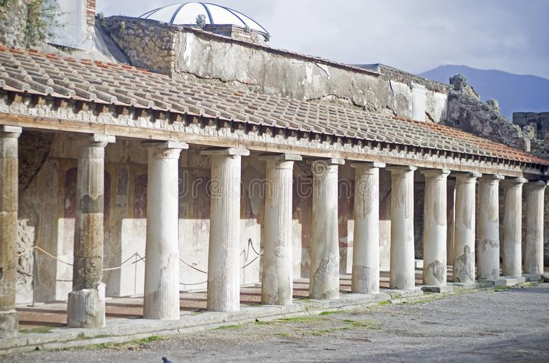 Pompei. Village and its surroundings in Italy stock images