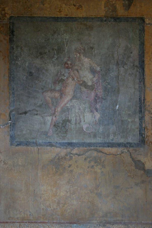 Pompeianfresko Pompei (Napels - Italië) royalty-vrije stock fotografie