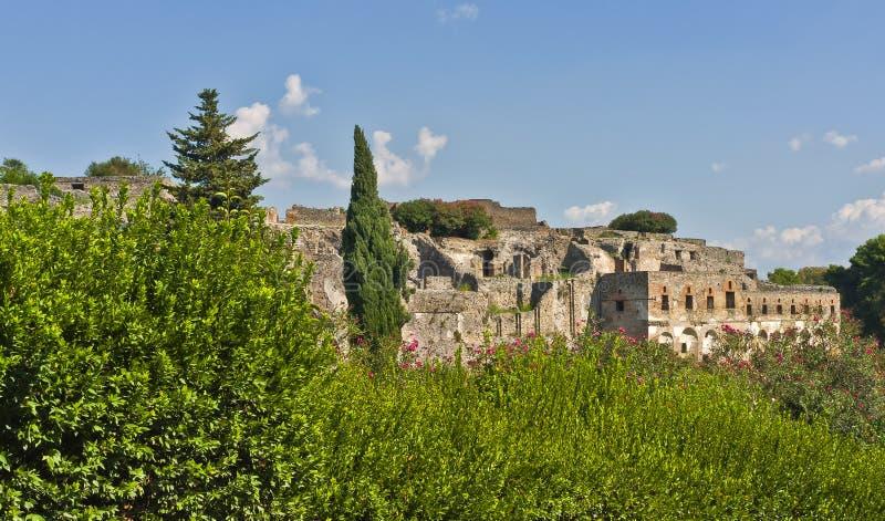 Pompeii в пределах ландшафта, Италия стоковая фотография rf