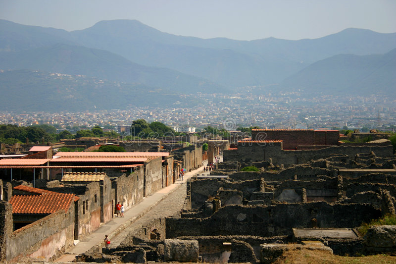 Pompeii. A view of pompeii city royalty free stock photography