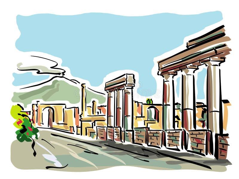 Pompeii ilustração royalty free