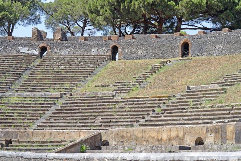 Pompeii amfiteatr obraz royalty free