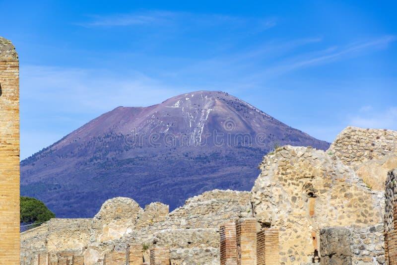 Pompeii, ancient Roman city in Italy stock photo