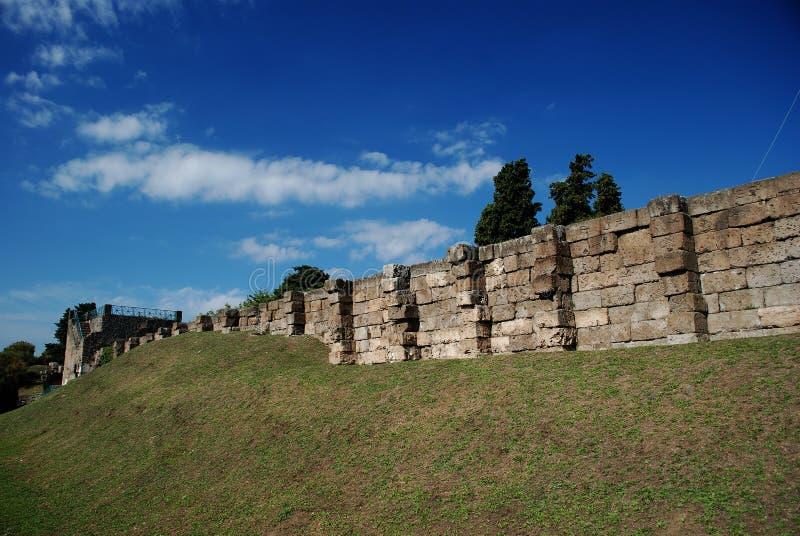 Pompeii ancient walls royalty free stock photos