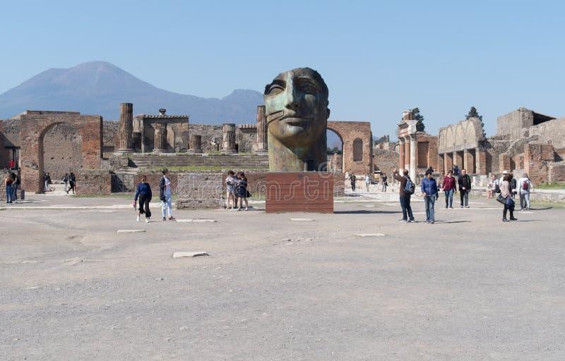 Pompeii Archaeological site, Italy stock photos