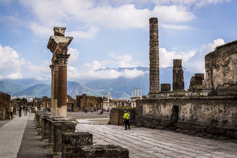 Pompeii, archeological miejsce blisko Naples, Włochy fotografia stock