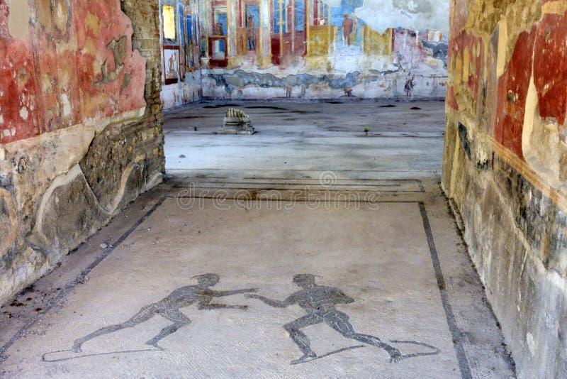 Palestra dei Luvenes, Pompeii. Pompeii, archeological site near Naples, Palestra dei Luvenes, Luvenes Gymnasium, Italy royalty free stock images
