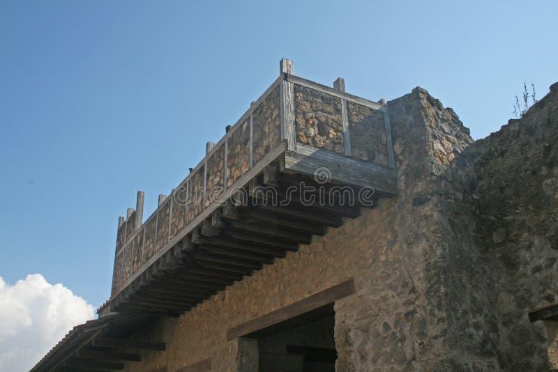 Pompeii balkong arkivfoto