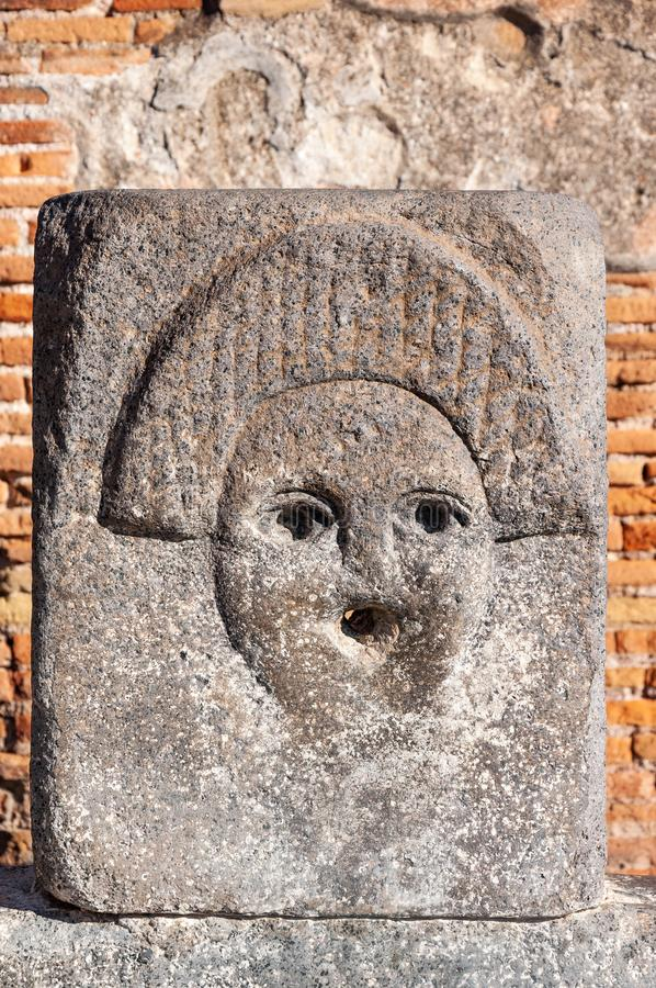 Pompeii, the best preserved archaeological site in the world, Italy. Detail of public fountain royalty free stock images