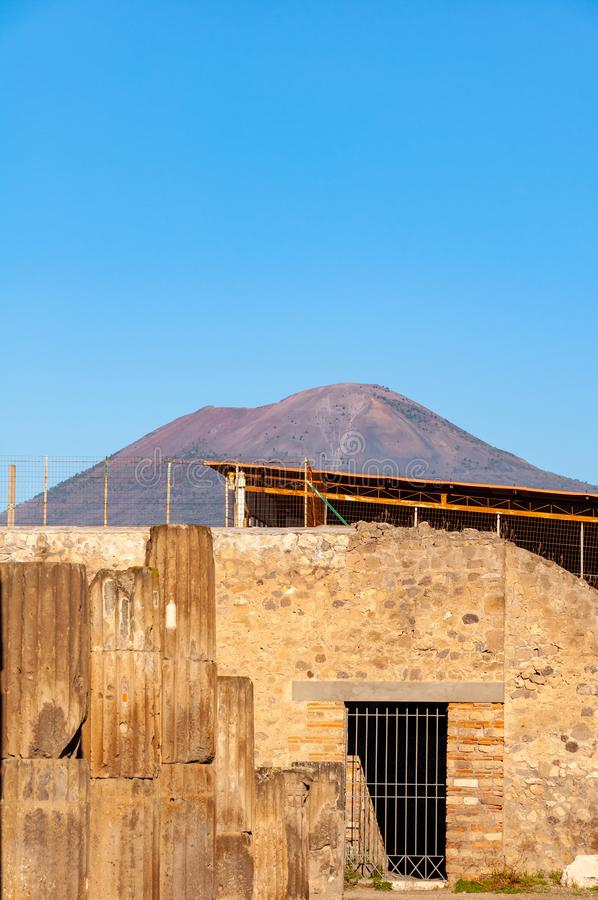 Pompeii, the best preserved archaeological site in the world, Italy. Pompeii, the best preserved archaeological site in the world, with many houses, squares and stock photos