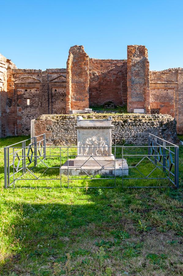 Pompeii, the best preserved archaeological site in the world, Italy. Pompeii, the best preserved archaeological site in the world, with many houses, squares and royalty free stock images