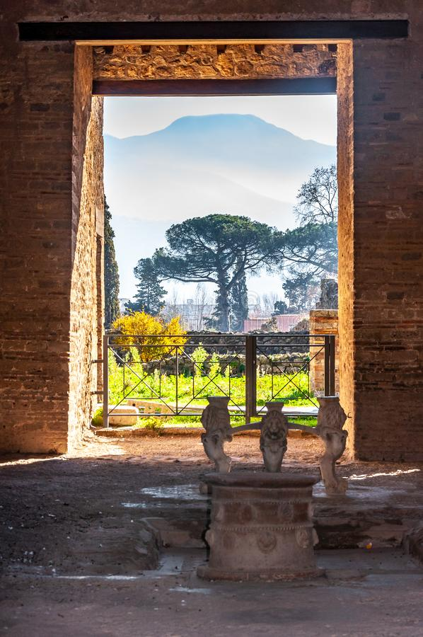 Pompeii, the best preserved archaeological site in the world, Italy. Pompeii, the best preserved archaeological site in the world, with many houses, squares and stock images