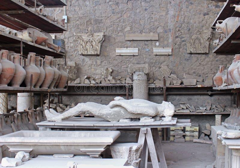 Pompeii body cast royalty free stock photography